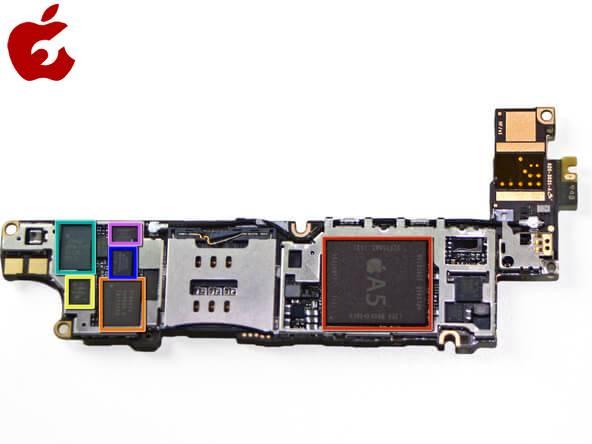 مادربرد آیفون ۴s 16GB اصلی   LOGIC BOARD IPHONE 4S 16GB